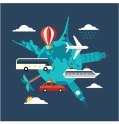 travel vector image