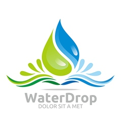 Water drop pure symbol icon business design vector