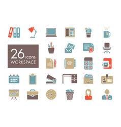 workspace outline icon workspace sign vector image