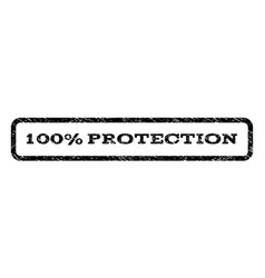 100 percent protection watermark stamp vector