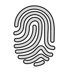 Fingerprint access human icon vector