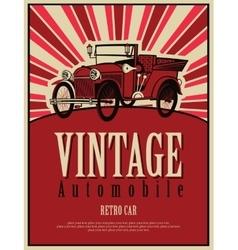 Vintage car cabriolet vector