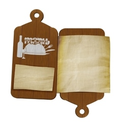 restaurant menu template cutting boards and old vector image