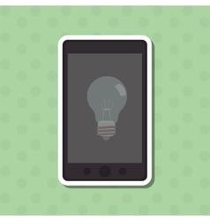 Big idea and light bulb icon design vector image