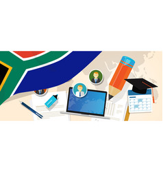 South africa education school university concept vector