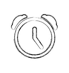 Clock alarm pictogram vector