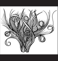 Head bush of hair doodle vector