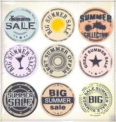 Summer sale grunge rubber stamp vector