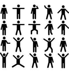 Human pictograms vector