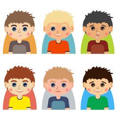 man character avatars vector image