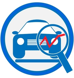 Automotive diagnostic repair icon vector