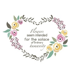 Flower wreath template with signature vector
