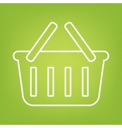 Shopping basket line icon vector