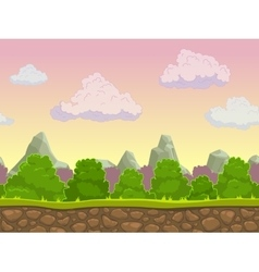 Cartoon seamless nature landscape vector