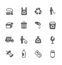 Simple garbage icons vector
