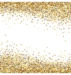 Banner of gold sequins vector