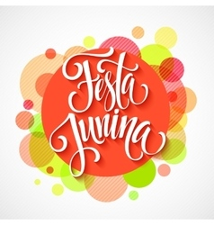 Festa junina party greeting design vector