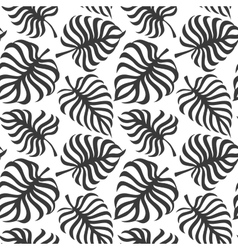 Seamless pattern with tropic leaves of monstera vector image