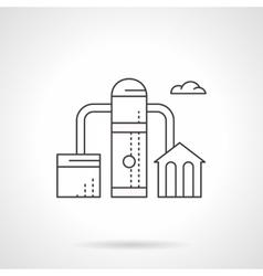 Fuel factory flat line icon vector