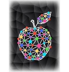 Abstract triangle apple with background vector