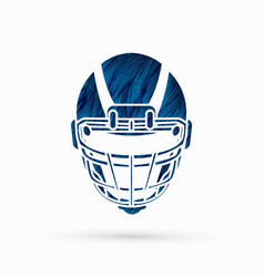 American football helmet graphic vector