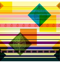 Autumn transparent leaves geometric pattern vector