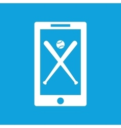 Baseball app icon simple vector image
