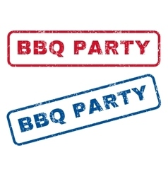 BBQ Party Rubber Stamps vector image
