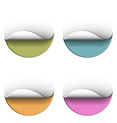 Blank peeling circle stickers vector