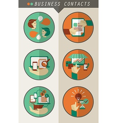Business contacts infographic vector image vector image