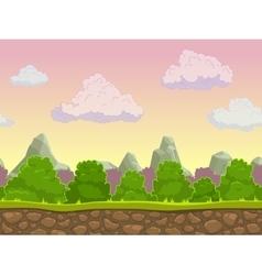 Cartoon seamless nature landscape vector
