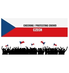 Cheering or protesting crowd czech vector