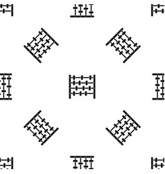 Children abacus pattern seamless black vector