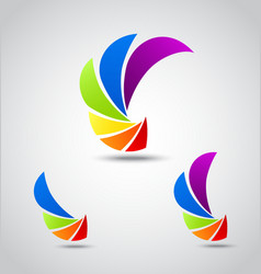 Colorful shutter vector