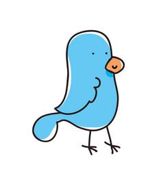 cute birdie cartoon vector image