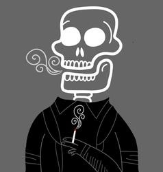 dead smoker vector image vector image