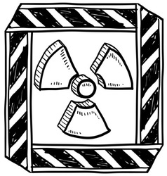 doodle radiation vector image vector image
