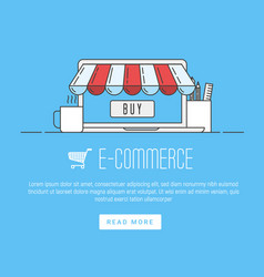 E-commerce pay online and online shopping concept vector