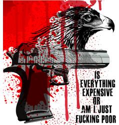 Eagle slogan poster graphic design vector