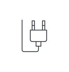 electric plug thin line icon linear symbol vector image