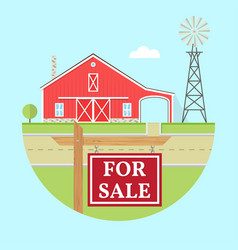 Family farmhouse icon isolated on blue background vector