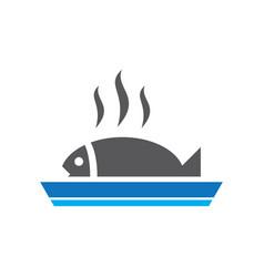 Fish grill logo image vector