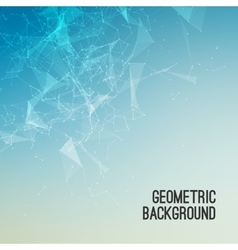 Geometric Abstract mesh background with circles vector image