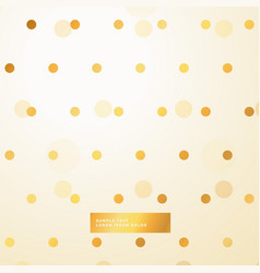 golden polka dots beautiful background vector image vector image