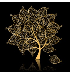 golden tree vector image vector image