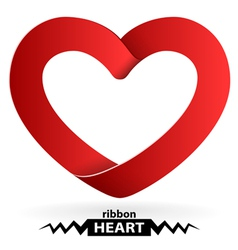 heart shape ribbon vector image