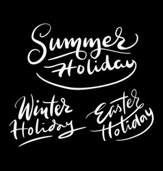 holiday hand written typography vector image vector image