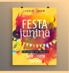 Invitation template for festa junina festival vector