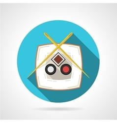 Japanese cuisine flat round icon vector image