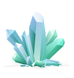 magic crystal amethyst topaz blue quartz ruby vector image vector image